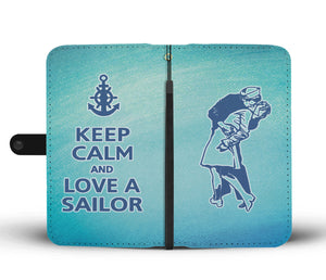 Keep Calm and love a sailor - Blue - Capt. Jack