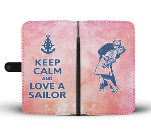 Keep Calm and love a sailor - Pink - Capt. Jack