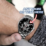 Personalized Anchor Watch - Silver Case