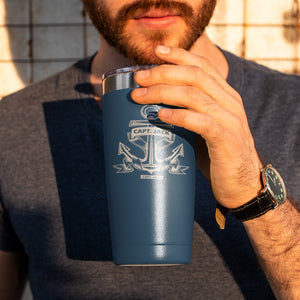 Personalized Vintage Anchor -  Vacuum Insulated Tumbler
