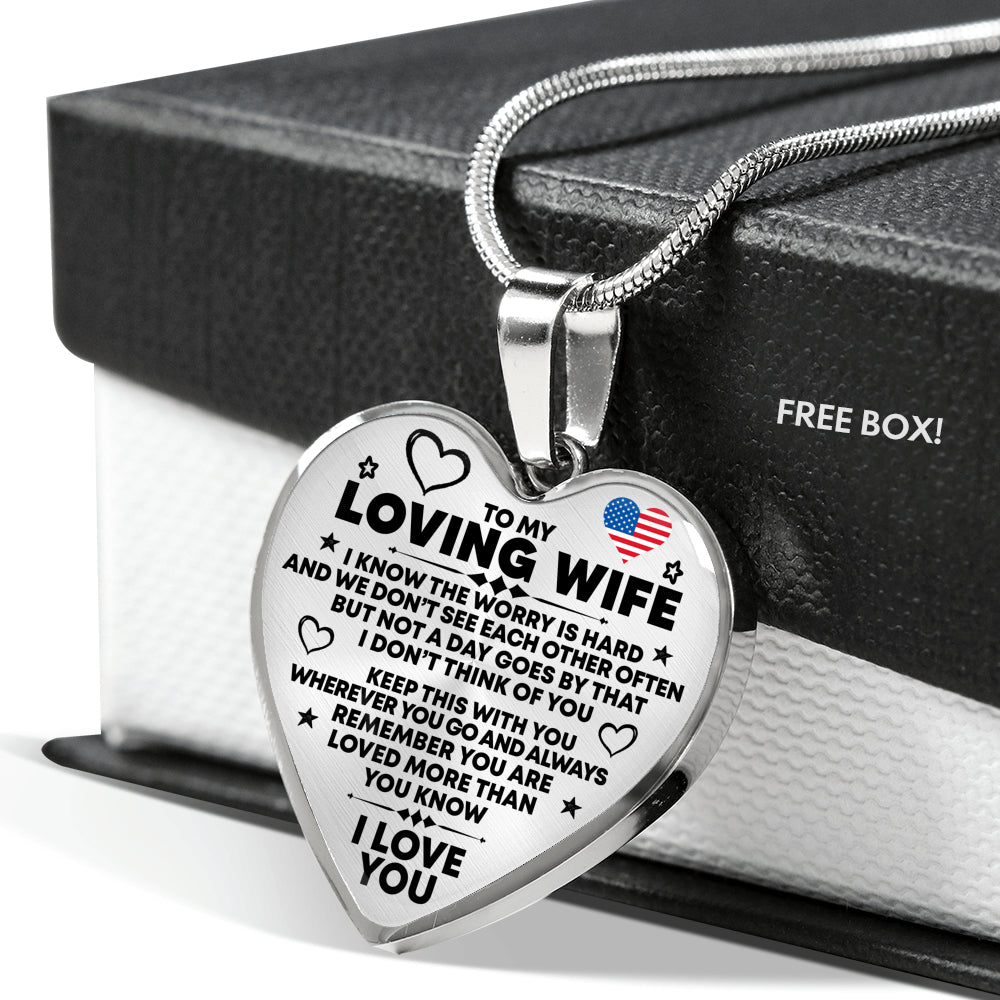 Loving Wife - Premium Heart Necklace - Capt. Jack