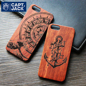 Sailor Inspired Bamboo Wood Phone Case For Iphone - Capt. Jack