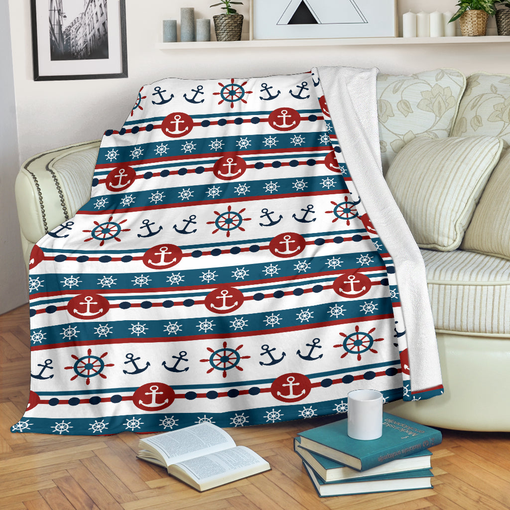 Nautical Pattern Premium Blanket - Capt. Jack