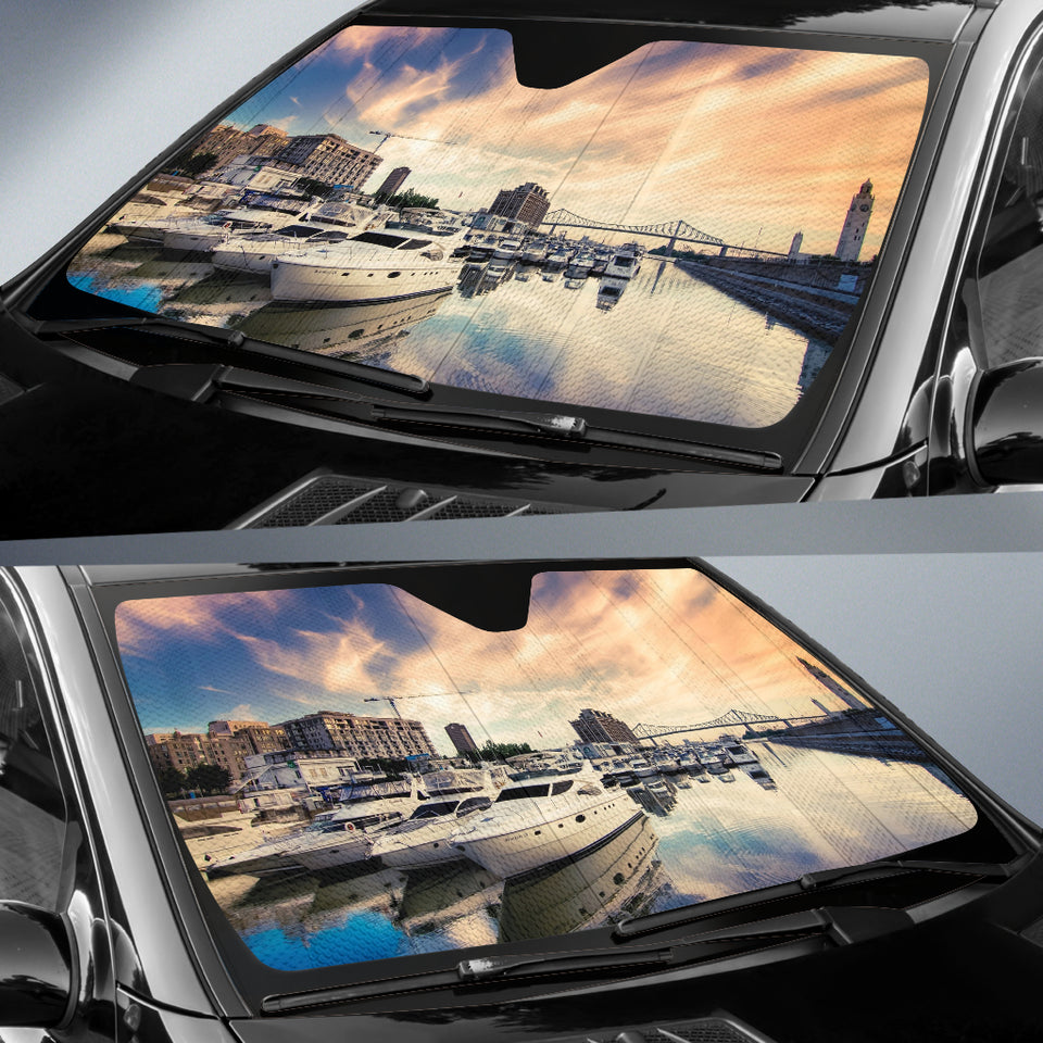 Sunset Harbor Auto Sun Shades - Capt. Jack