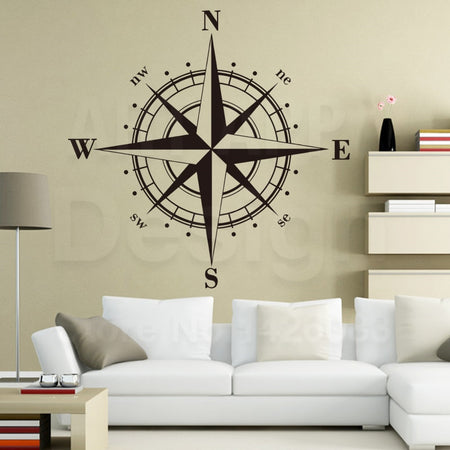 Compass Wall Sticker - Capt. Jack