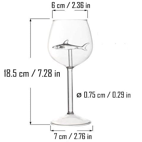 Shark Wine Glass - Capt. Jack