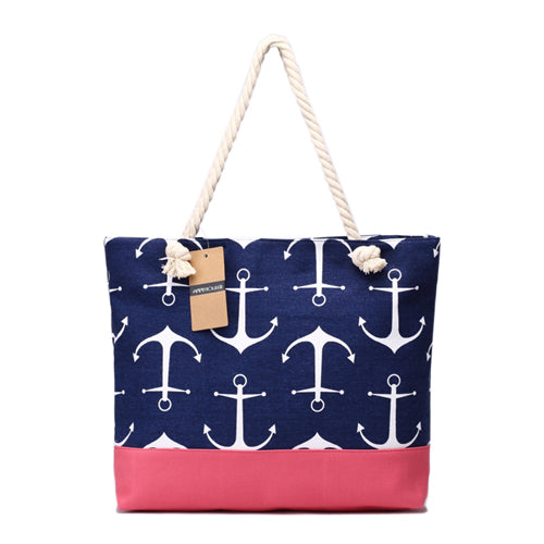 Lady Navy  Large Capacity Tote Bag - Capt. Jack
