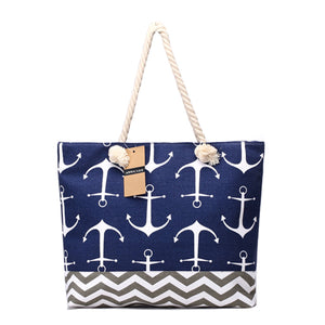 Lady Navy  Large Capacity Tote Bag