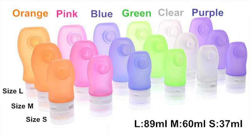 3 pcs Silicone Refillable Travel Bottle - Capt. Jack