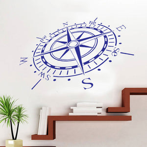 3D Compass Wall Sticker - Capt. Jack