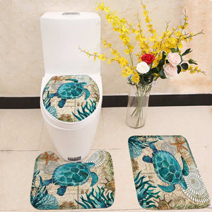 Marine Style 3 Pieces Set Toilet Seat Cover - Capt. Jack