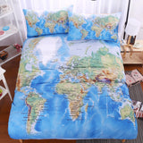 The World Map Bedding Set - Capt. Jack