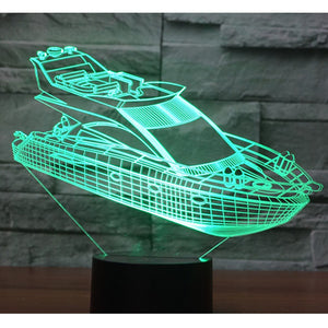 Speed Boat 3D Lamp - Capt. Jack