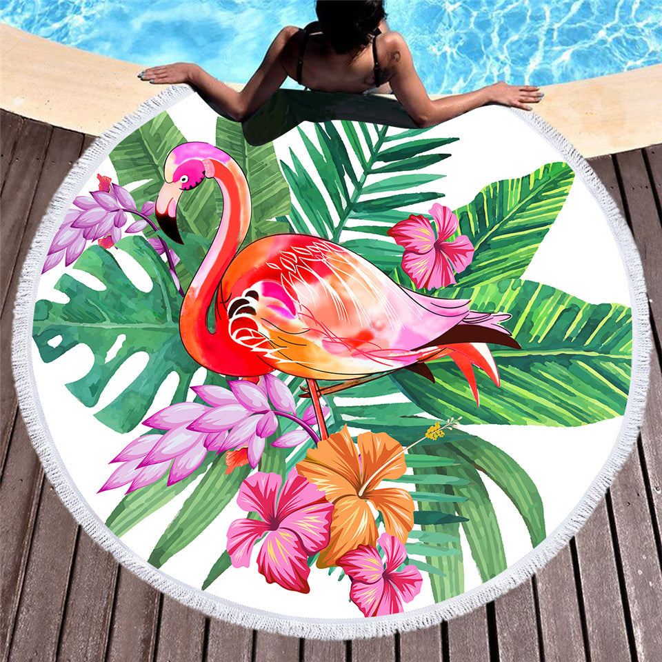 Flamingo Round Beach Towel - Capt. Jack