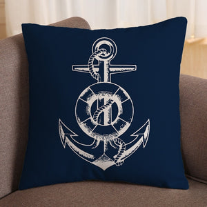 Marine Navy Pillow Cover - Capt. Jack