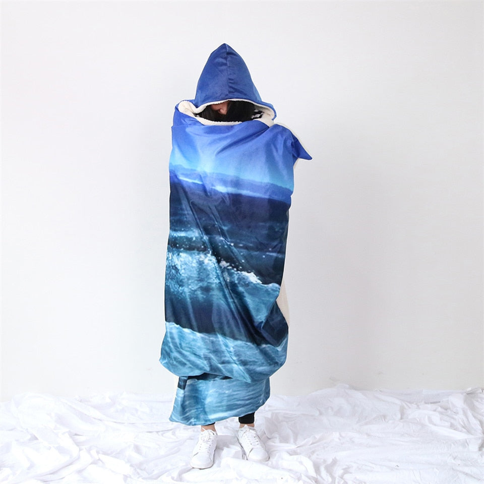 Moonlight Ocean Breeze Hooded Blanket - Capt. Jack