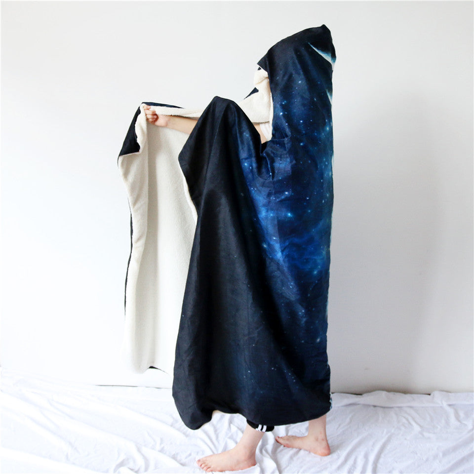Moon Phase Hooded Blanket - Capt. Jack