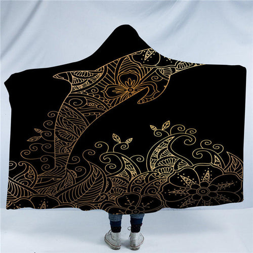 Golden Dolphin Hooded Blanket - Capt. Jack