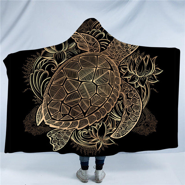 Golden Turtle Hooded Blanket - Capt. Jack