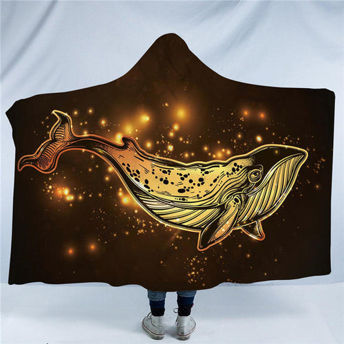 Golden Whale Hooded Blanket - Capt. Jack