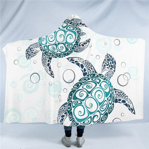 Oceanic Turtle Hooded Blanket - Capt. Jack