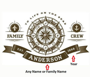 Personalized Family of the seas Wall Stickers - Capt. Jack