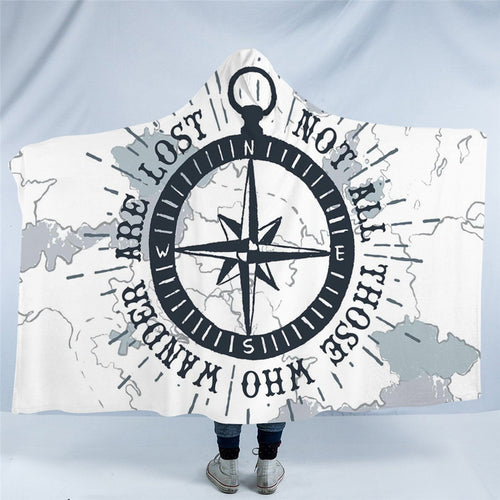 Not all those who wander are lost Hooded Blanket - Capt. Jack