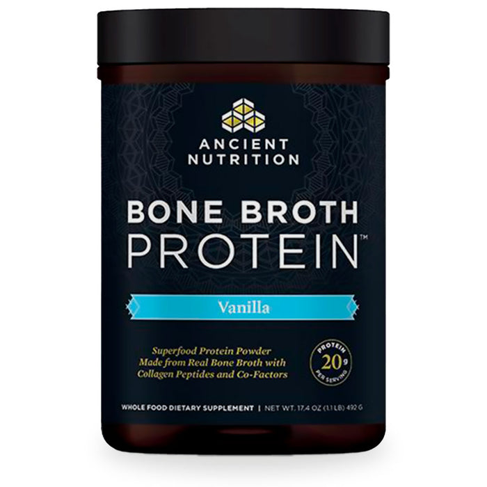 Ancient Nutrition, Bone Broth Protein, Vanilla, 493 g