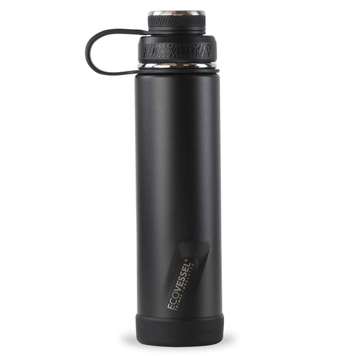 EcoVessel, Boulder Insulated Stainless Steel Bottle, Black Shadow, 709 ml
