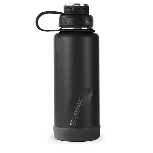 EcoVessel, Boulder Insulated Stainless Steel Bottle, Black Shadow, 946 ml