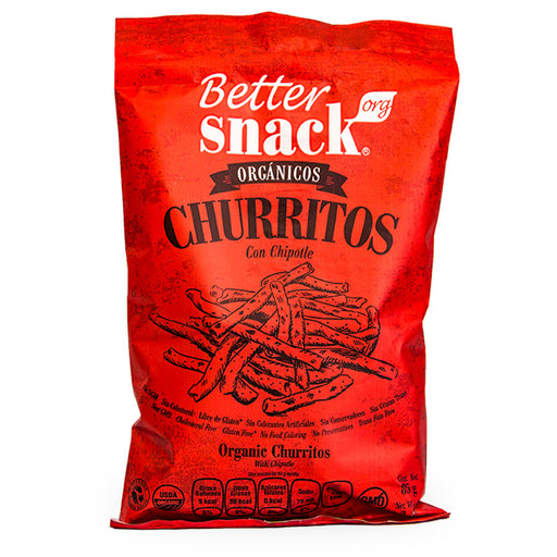 Better Snack Org, Churritos, Chipotle, 85 g