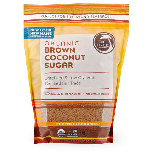 Big Tree Farms, Brown Coconut Sugar, 454 g