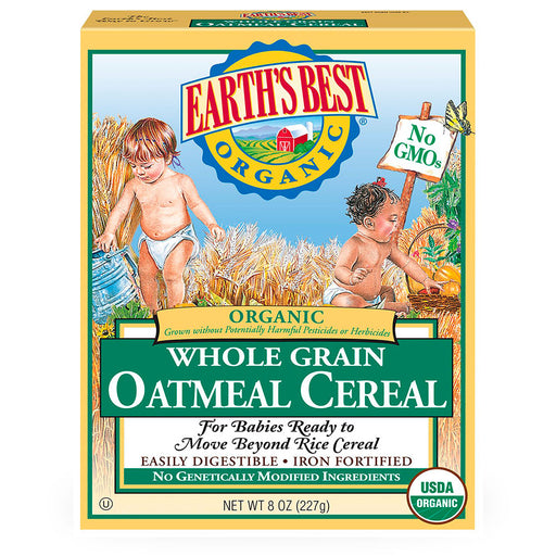 Earths Best, Whole Grain, Oatmeal Cereal, 227 g
