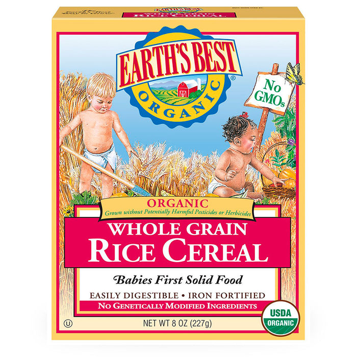 Earths Best, Whole Grain, Rice Cereal, 227 g