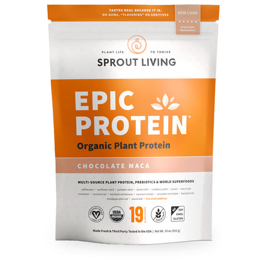 Epic Protein, Organic Plant Protein, Chocolate Maca, 455 g