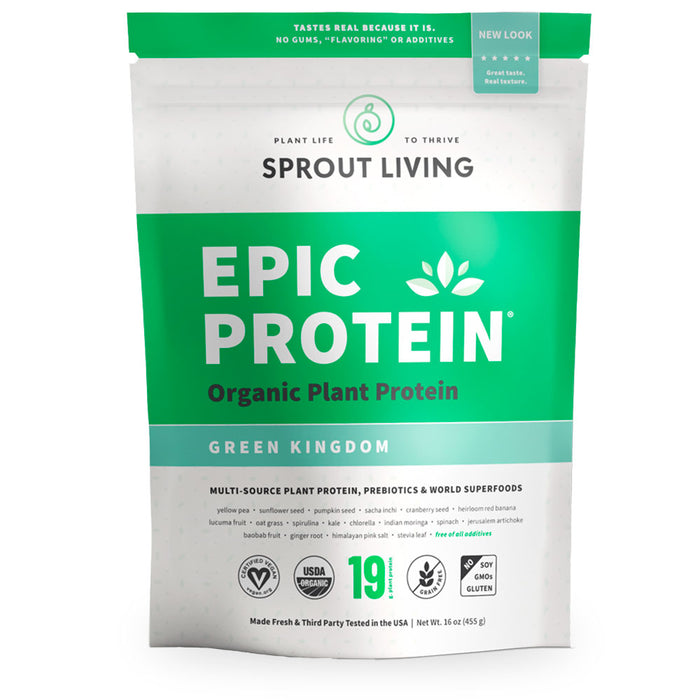Sprout Living, Epic Protein, Green Kingdom, 455 g