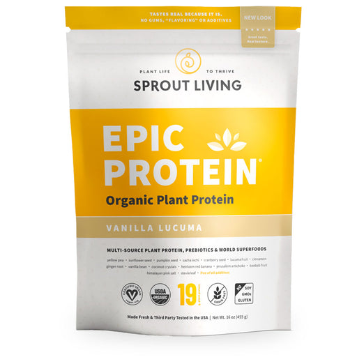 Sprout Living, Epic Protein, Vanilla Lucuma, 455 g