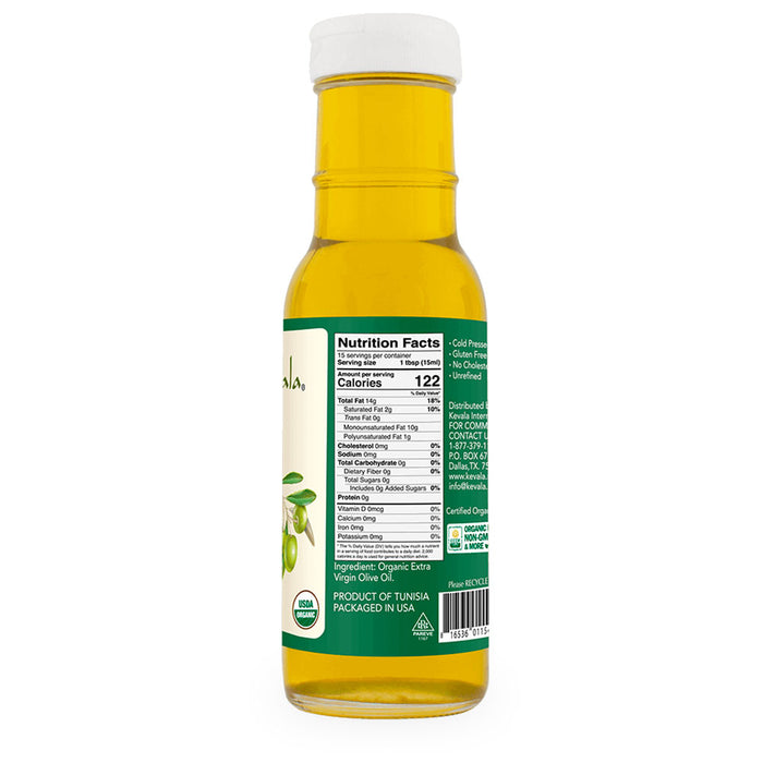 Kevala, Extra Virgin Organic Olive Oil,  236 ml