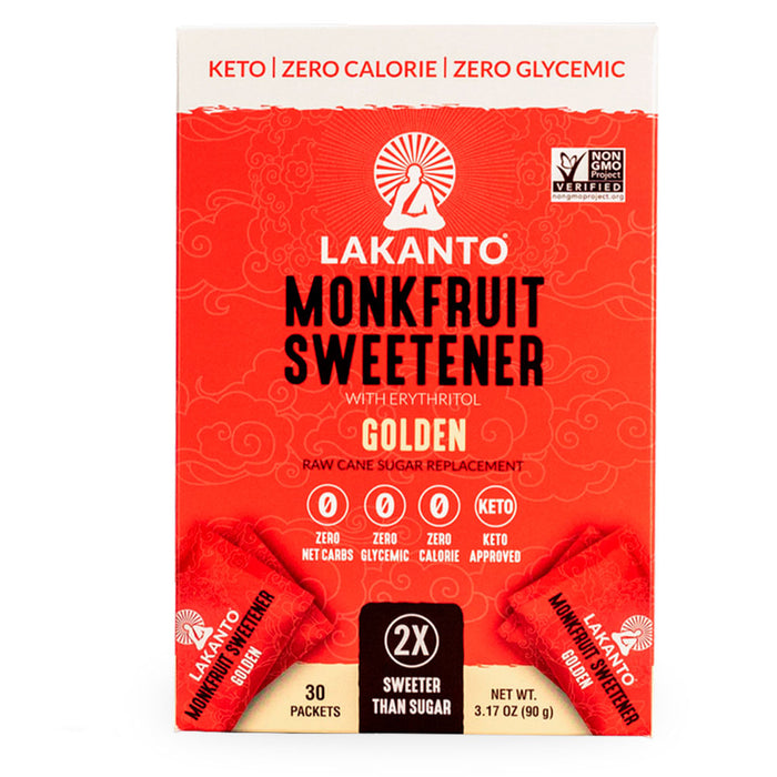 Lakanto, Monkfruit Sweetener, Golden, 30 packs