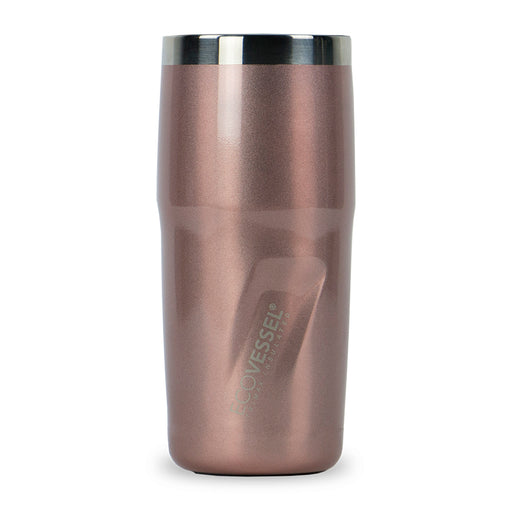 EcoVessel, Metro TriMax Insulated Stainless Steel Tumbler, Rose Gold, 473 ml