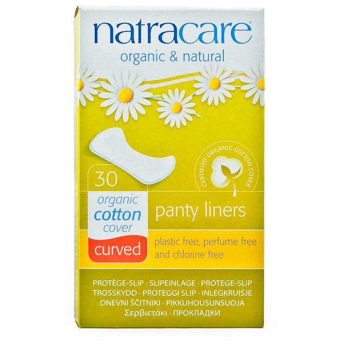 Natracare, Panty Liners, Curved, 30 pzas