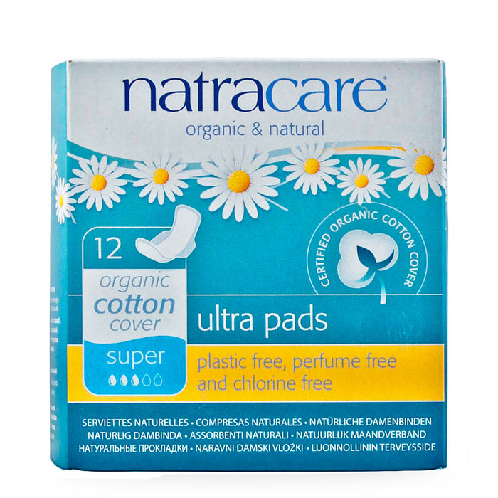 Natracare, Ultra Pads, Super, 12 pzas