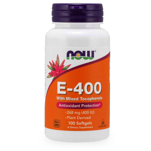Now, E-400, Mixed Tocopherols, 100 caps