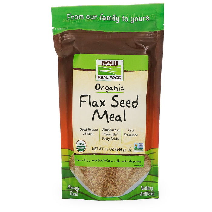 Now, Golden Flax Seed Meal, 340 g