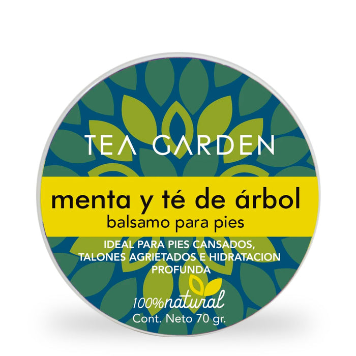 Tea Garden, Foot Balm, Peppermint and Tea Tree, 70 g