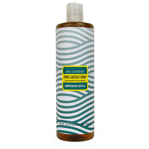 Tea Garden, Pure Castile Soap, Romero y Menta, 500 ml