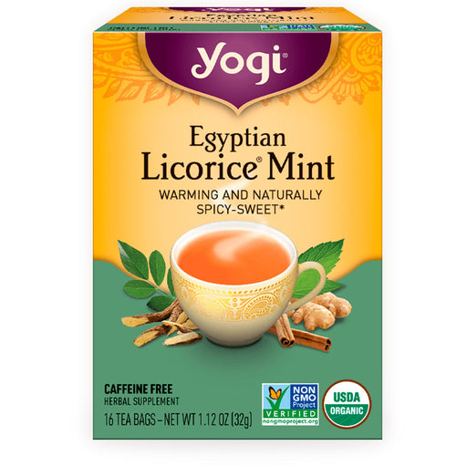 Yogi, Egyptian Licorice Mint, 16 pzas