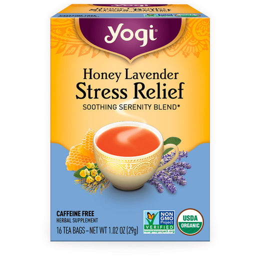 Yogi, Honey Lavender Stress Relief, 16 pzas