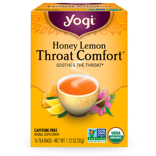 Yogi, Honey Lemon Throat Comfort, 16 pzas