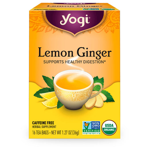 Yogi, Lemon Ginger, 16 pzas